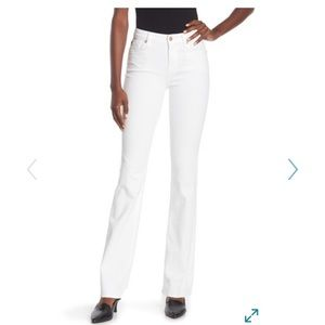 7 for all mankind white bootcut jeans